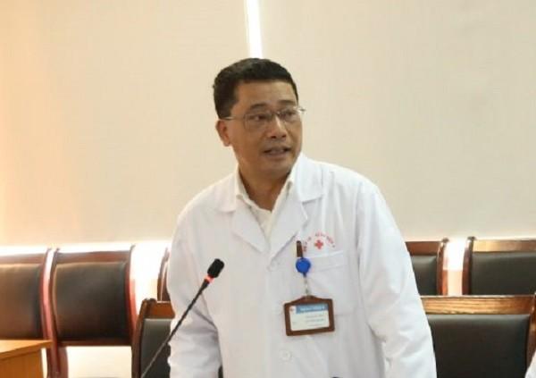PGS.TS Lê Văn Quảng, Phó Giám đốc Bệnh viện K trao đổi với báo chí