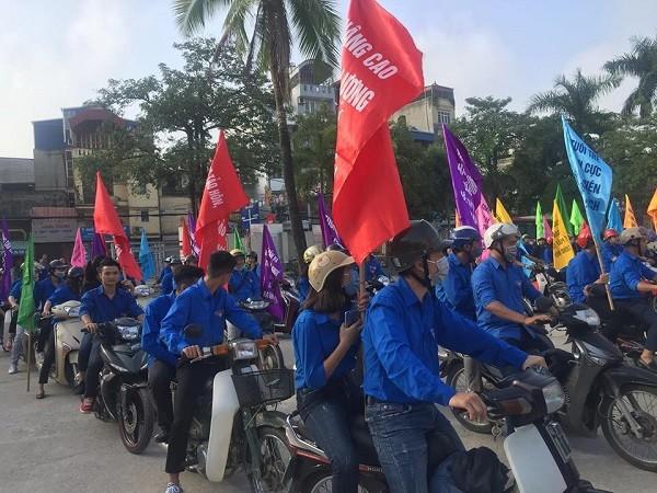 Diễu hành tuyên truyền về Tháng hành động quốc gia về dân số năm 2018 tại Thường Tín
