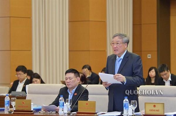 Chánh án TAND TC Nguyễn Hòa Bình đề nghị xây dựng Luật Hòa giải, đối thoại tại Tòa án (Ảnh: Quốc hội)