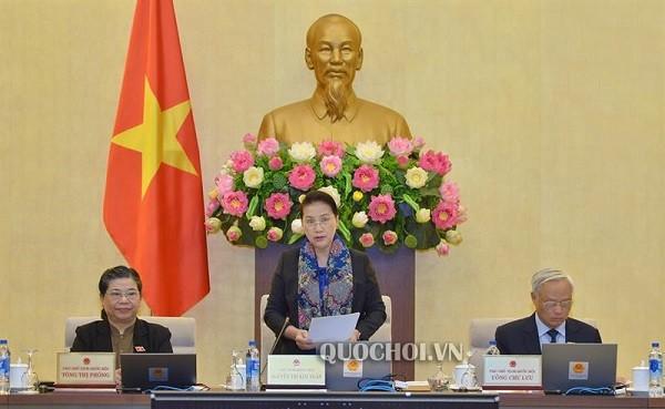 Chủ tịch Quốc hội Nguyễn Thị Kim Ngân phát biểu thảo luận tại phiên họp