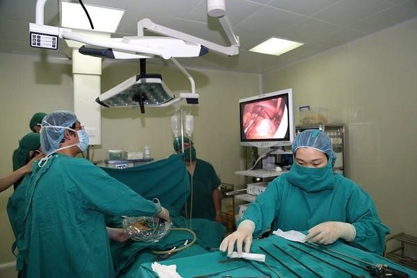 Bệnh nhân được mổ cắt ruột thừa thành công