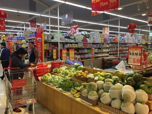 Thị trường tiêu thụ thực phẩm trong nước ngày càng phát triển