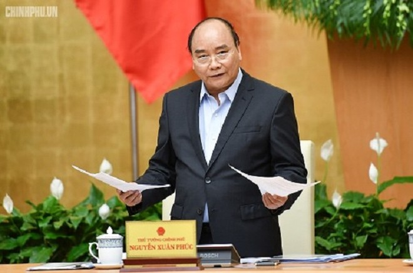 Thủ tướng Chính phủ Nguyễn Xuân Phúc chỉ đạo tại phiên họp (Ảnh: Chinhphu.vn)