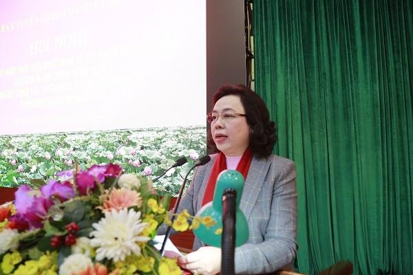 Phó Bí thư Thường trực Thành ủy Hà Nội Ngô Thị Thanh Hằng phát biểu chỉ đạo