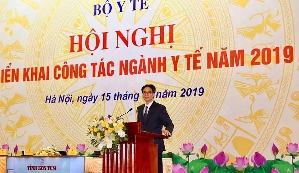 Phó Thủ tướng Chính phủ Vũ Đức Đam phát biểu chỉ đạo tại hội nghị