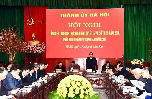 Phó Bí thư Thành ủy Hà Nội Đào Đức Toàn chủ trì hội nghị