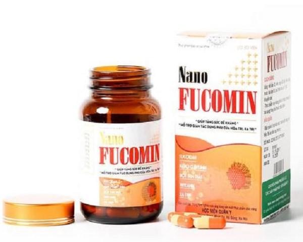 Sản phẩm Nano Fucomin quảng cáo trên website bị phát hiện có vi phạm