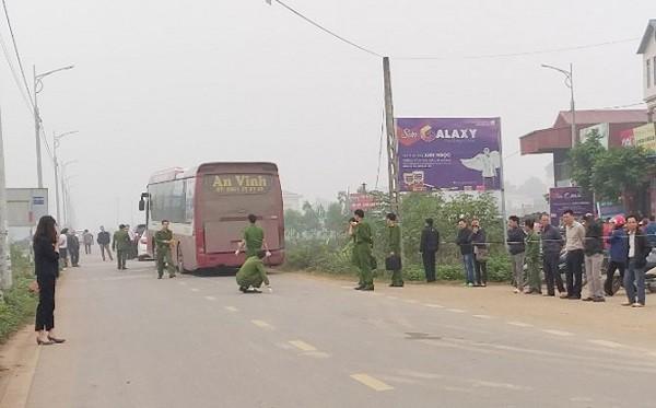 Hiện trường xảy ra vụ tai nạn giao thông thương tâm tại huyện Yên Lạc (Vĩnh Phúc)