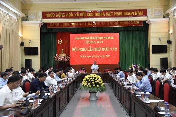 Hội nghị lần thứ 18 Ban Chấp hành Đảng bộ TP Hà Nội khai mạc sáng 10-4