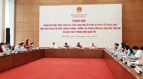 Ủy ban Tư pháp tổ chức Phiên họp giải trình về tình trạng xâm hại tình dục trẻ em