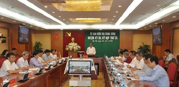 Phiên họp thứ 35 của Ủy ban Kiểm tra Trung ương