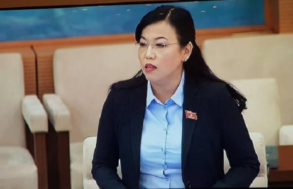 Trưởng Ban Dân nguyện của Ủy ban Thường vụ Quốc hội Nguyễn Thanh Hải trình bày báo cáo