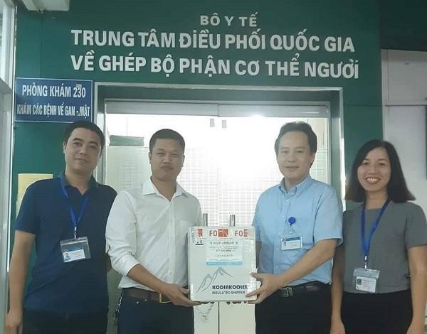 5 giác mạc đã được Trung tâm Điều phối ghép tạng Quốc gia chuyển đến cho Ngân hàng Mắt (BV Mắt Trung ương)