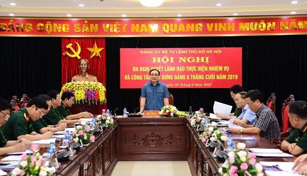 Bí thư Thành ủy Hà Nội Hoàng Trung Hải chủ trì hội nghị