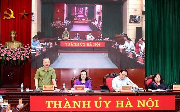 Phó Chủ tịch Thường trực UBND TP Hà Nội Nguyễn Văn Sửu phát biểu tại hội nghị