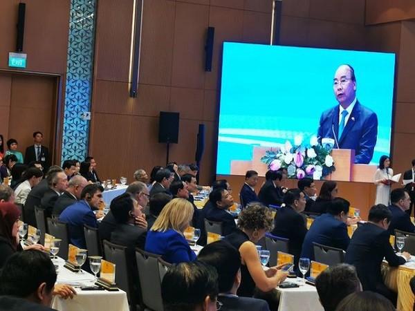 Thủ tướng Nguyễn Xuân Phúc phát biểu sau lễ ký kết hiệp định