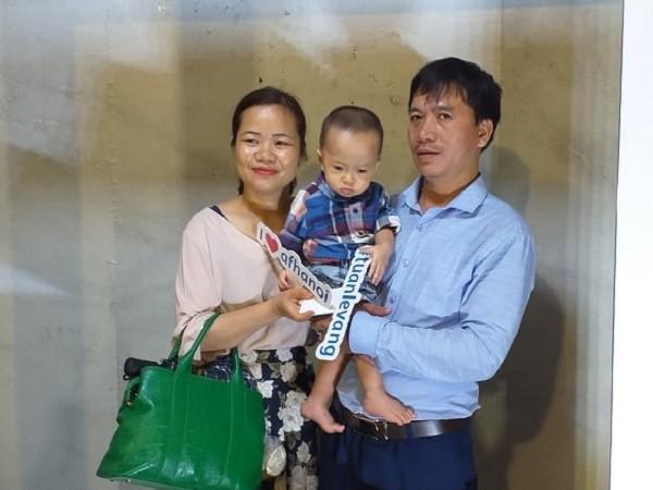 Một cặp vợ chồng có con nhờ can thiệp tại BV Nam học và Hiếm muộn Hà Nội
