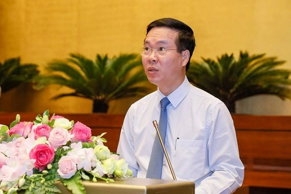 Trưởng Ban Tuyên giáo Trung ương Võ Văn Thưởng phát biểu khai mạc hội nghị