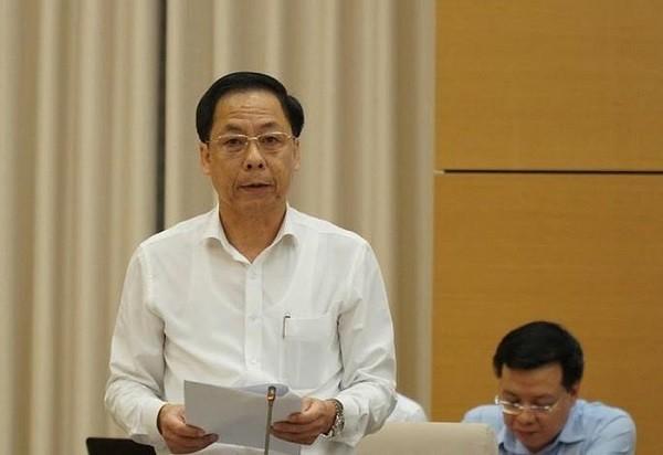 Phó Tổng Thanh tra Chính phủ Trần Ngọc Liêm báo cáo tại phiên họp