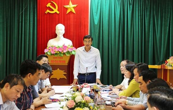 Phó Bí thư Thành ủy Đào Đức Toàn phát biểu tại buổi kiểm tra