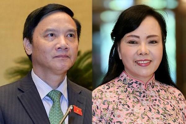 Ông Nguyễn Khắc Định và bà Nguyễn Thị Kim Tiến