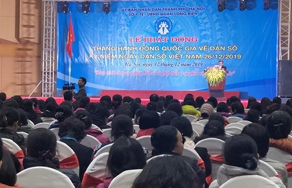 Lễ phát động Tháng hành động quốc gia về dân số tại thành phố Hà Nội