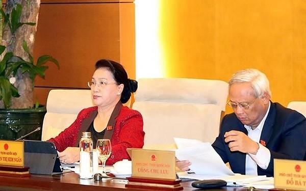 Chủ tịch Quốc hội Nguyễn Thị Kim Ngân chủ trì phiên họp thứ 39 của UBTVQH