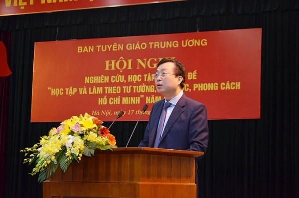 Phó Trưởng Ban Tuyên giáo Trung ương Bùi Trường Giang phát biểu khai mạc