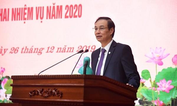 Phó Bí thư Thành ủy Đào Đức Toàn phát biểu chỉ đạo tại hội nghị