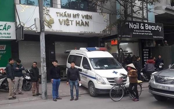 Thẩm mỹ viện Hàn Việt - nơi xảy ra vụ việc một nạn nhân tử vong