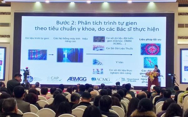TS Liêm báo cáo về ứng dụng công nghệ giải mã gien trong điều trị ung thư