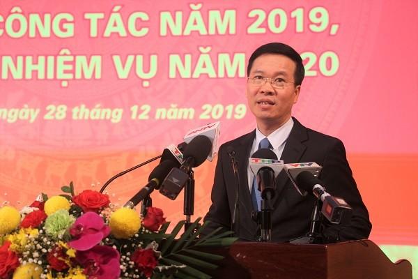 Trưởng Ban Tuyên giáo Trung ương Võ Văn Thưởng phát biểu chỉ đạo tại hội nghị