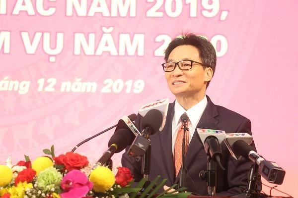 Phó Thủ tướng Chính phủ Vũ Đức Đam phát biểu tại hội nghị