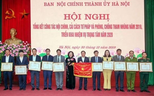 Hà Nội tổng kết công tác nội chính năm 2019