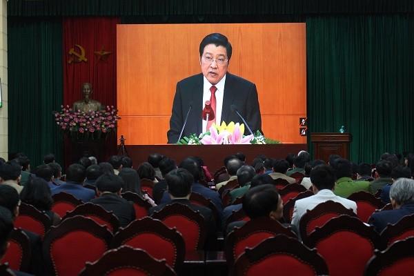 Trưởng Ban Nội chính Trung ương Phan Đình Trạc phát biểu tại hội nghị