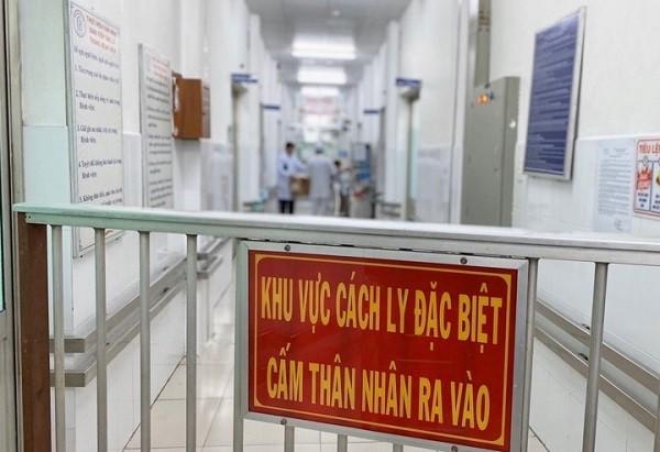 Khu vực cách ly điều trị 2 bệnh nhân nhiễm coronavirus tại Bệnh viện Chợ Rẫy