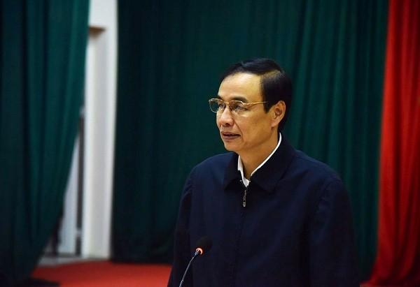 Phó Bí thư Thành ủy Hà Nội Đào Đức Toàn phát biểu tại buổi làm việc