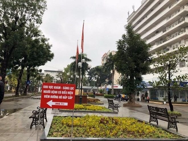 Hướng dẫn khu vực khám bệnh nhân nghi mắc corona tại Bệnh viện Thanh Nhàn