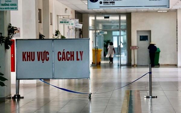 Khu vực cách ly bệnh nhân nhiễm corona tại Bệnh viện Bệnh Nhiệt đới Trung ương