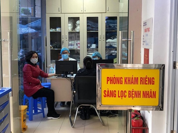 Phòng khám riêng sàng lọc bệnh nhân viêm phổi cấp tại Bệnh viện Thanh Nhàn