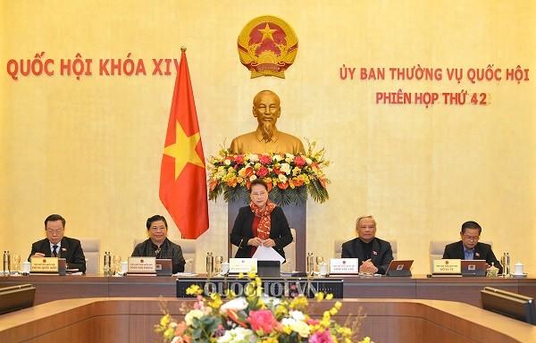 Chủ tịch Quốc hội Nguyễn Thị Kim Ngân phát biểu khai mạc phiên họp thứ 42