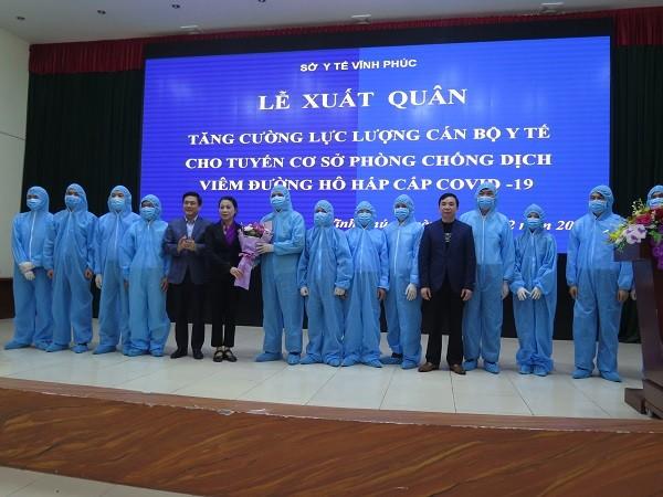 Vĩnh Phúc huy động 65 y bác sĩ về tâm dịch Covid-19 ở huyện Bình Xuyên