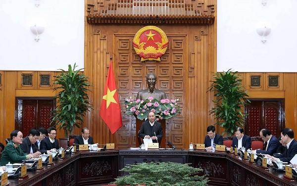 Thủ tướng Nguyễn Xuân Phúc chỉ đạo tại cuộc họp (Ảnh: VGP/Quang Hiếu)