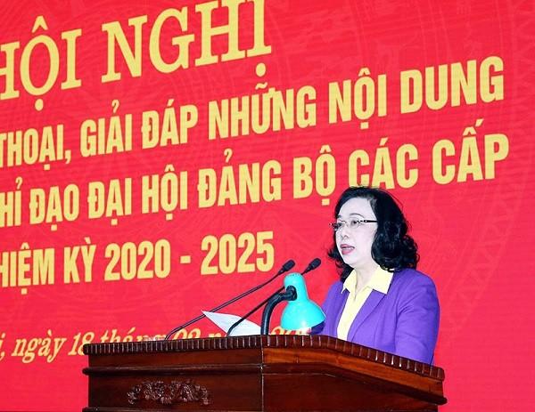 Phó Bí thư Thường trực Thành ủy Ngô Thị Thanh Hằng chỉ đạo tại hội nghị