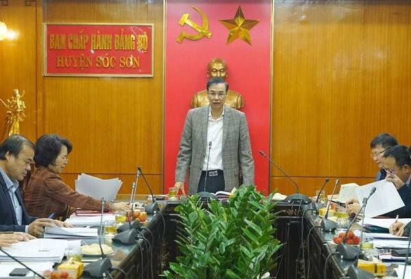 Phó Bí thư Thành ủy Hà Nội Đào Đức Toàn chỉ đạo tại cuộc họp