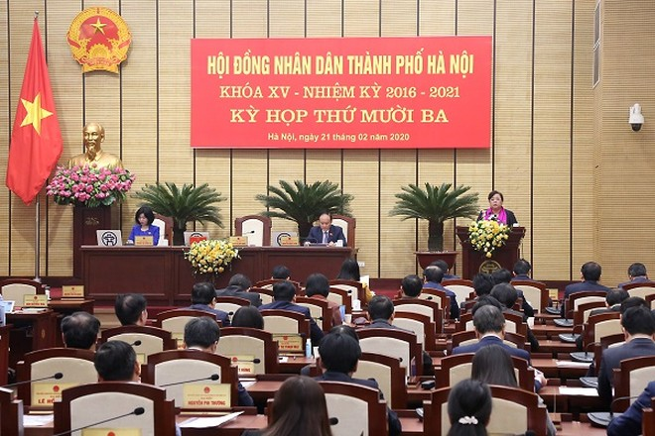 Chủ tịch HĐND TP Nguyễn Thị Bích Ngọc phát biểu sau khi Nghị quyết được thông qua