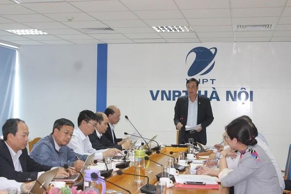 Phó Bí thư Thành ủy Đào Đức Toàn làm việc với Đảng ủy VNPT Hà Nội