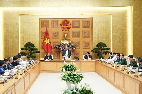 Thủ tướng chủ trì cuộc họp chiều 24-2 (Ảnh: VGP)