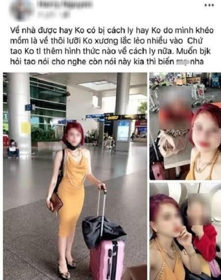 """Hình ảnh cô gái về từ Hàn Quốc chia sẻ trên facebook """"bí quyết"""" để được nhập cảnh"""