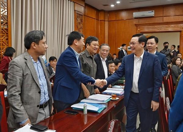 Bí thư Thành ủy Vương Đình Huệ làm việc với Ủy ban MTTQ Việt Nam thành phố Hà Nội